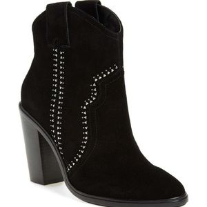 Joie Monte Suede Western Bootie Ankle Boots